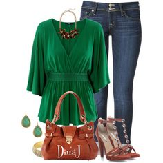 Casual Outfits | Green Top | Fashionista Trends