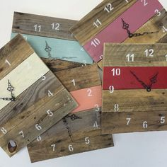 Reclaimed Pallet Wood Wall Clock Antique by fieldtreasuredesigns