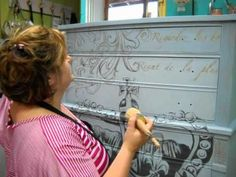 HOW TO APPLY CLEAR WAX:    Visit The Purple Painted Lady here http://www.thepurplepaintedlady.com/shop/  - she is a retailer of BOTH Chalk Paint™ Decorative Paint by Annie Sloan and Milk Paint by Miss Mustard Seed.  Please visit our website if interested in purchasing product.  Additional instructional information is always included with your sh...