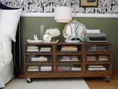DIYNetwork.com gives you 12 creative ideas for nightstand alternatives that can save you money and show off your favorite things.