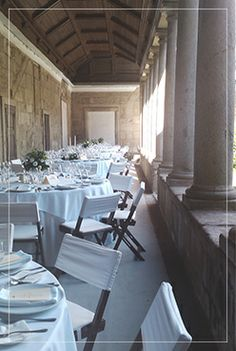 Mosteiro de Landim, Vila Nova de Famalicão, Portugal - All dressed up for a white wedding in the corridors of the cloister!
