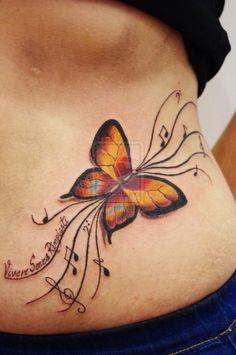 #butterfly  #music note #tattoo