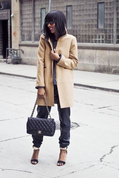 Classic Camel Coat & Leather | What I'm Wearing