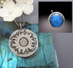 Sterling Silver Labradorite Necklace  Labradorite by AmityJewelry
