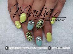 leopard and rinestones by marija7 - Nail Art Gallery nailartgallery.nailsmag.com by Nails Magazine www.nailsmag.com #nailart
