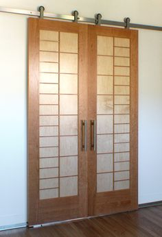 At Cherry Tree Design, handcrafted Japanese Doors and Japanese Sliding Doors are our specialty. Japanese Sliding Doors, Japanese Door, Diy Sliding Door, Japanese Bathroom, Shoji Doors, Sliding Door Window Treatments, Shoji Screen, Japanese Interior Design, Glass Cabinet Doors