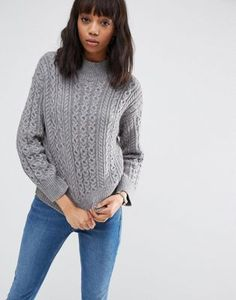 ASOS Jumper With Cable Stitch And High Neck