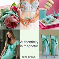 Authenticity is Magnetic Turquoise Cottage, Quote Collage, Collages, Pot Pourri, Fast Day, Mood Colors, Color Quotes, Happy Weekend, Happy Friday