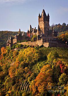 Germany's Reichsburg Castle in Autumn/Louise Heusinkveld
