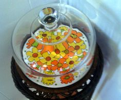 1970's Retro Vintage Cake Holder / Wall Hanging by cappelloscreations, $23.00@Etsy
