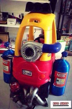 Little Tykes turbocharged + Nitrous!