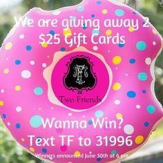 Two very lucky friends are going to win TF gift cards next week!! It could be YOU! Text us to be entered for a chance to win!  Good luck and happy weekend!! #tfssi #stsimonsisland #seaisland #goldenisles #shoplocal #shopgoldenisles