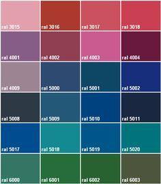 ral pantone color chart | Pic2seen.com | 66 | Pinterest | Ral color chart, Paint colors et Ral ...