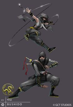 concept art for BUSHIDO, a table top rpg game set to be released around June i'll post more info in further updates. this time around it's a ninja . Character Concept, Character Art, Concept Art, Character Design, Arte Ninja, Ninja Art, Samurai, Geniale Tattoos, Shadow Warrior
