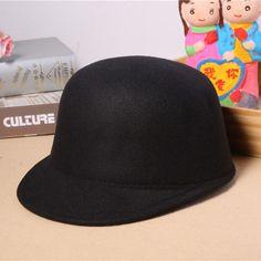 ef4e1abf33d75 2017 New Arrival Vintage Winter Fedora Hat for Female Equestrian Cap Women  Cap Lady Girls Cute