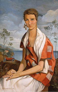 Alfred Courmes (French, 1898-1993) : Portrait of Peggy Guggenheim, 1926. Musée Franco-Américaine du Château de Blérancourt, France.