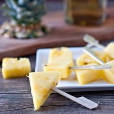 Rum Soaked Pineapple Pops. Have your booze and eat it too. - Excellent idea for summer!