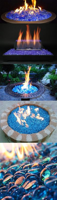 Use Fire glass to Transform Your Fire Pit into a Magical Display of Colors.
