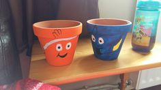 Painted Plant Pots, Disney Diy, Finding Nemo, Dream Garden, Potted Plants, Fundraising, Flower Pots, Art Ideas, Planter Pots