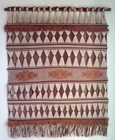 Vintage Woven Wall Tapestry by VestigeModern on Etsy