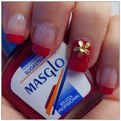 NAIL ART CUTE FLOWER http://nailenkha.blogspot.com.es/2016/07/nail-art-cute-flower.html #bornpretty #masglo #red #flower #gold #nails #notd #manicure #nailart #polish #nailspolish #nailartadict #cutepolish #cool #fashion #nailideas #manicura #esmalte #uñas #unhas #blog #blogguer #blogasturias #bloggerasturias #beauty #beautyblog