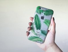 Samsung Galaxy s6 case Palm Tree Leaves iPhone 6 Case, Clear Case, Silicone Phone Case, Paradise Phone Cover, Flexible Case, Nature Case