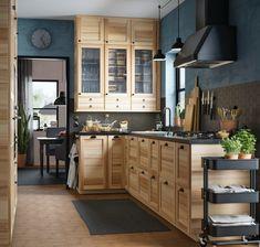 SÄLJAN Worktop, black mineral effect, laminate, cm - IKEA Farmhouse Kitchen Cabinets, Wooden Kitchen, Kitchen Cabinet Design, Modern Kitchen Design, Kitchen Interior, Ikea Kitchen Design, Kitchen Furniture, Kitchen Ideas, Cabin Kitchens