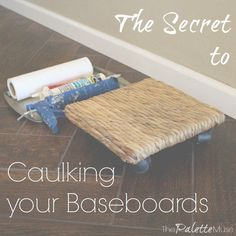 Whether you're cleaning, caulking, or painting them, baseboards deserve a special place in the homeowner's hall of shame. I've never met anyone who really enjoys doing their baseboards, and I'm not going to attempt to change that with one blog post. What I AM going to do is share with you a little trick to make the job easier on your knees and your back. Who knows, maybe if it weren't such a pain to clean them, I'd do it more often? (I hope you realize I was laughing at myself even as I…
