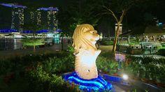 4K Singapore 2015 smallest Merlion & Marina bay sands hotel. LX100