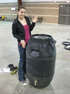 How to make a rain barrel. http://www.younghouselove.com/2009/03/how-to-make-a-rain-barrel/