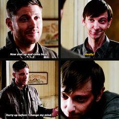 [Gifs] Dean really needed that hug , more then Garth knew <3 9x12 Sharp Teeth