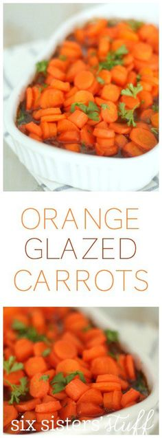 My family LOVED these Orange Glazed Carrots from SixSistersStuff.com. So easy to make and serves 6!