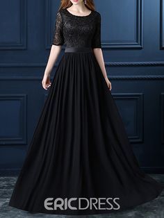 Ericdress A-Line Sashe Lace Evening Dress, Shadi Dresses, Pakistani Formal Dresses, Pakistani Dress Design, Indian Fashion Dresses, Indian Gowns Dresses, Lace Evening Dresses, Indian Wedding Gowns, Wedding Dresses For Girls, Stylish Dress Designs