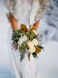 Winter Wedding Inspiration by Blue Rose Photography