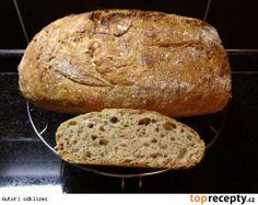 Domácí chleba bez hnětení v 2.0 (s droždím nebo kváskem) Russian Recipes, Bread Recipes, Food And Drink, Baking, Polish, Buns, Breads, Drinks, Pizza