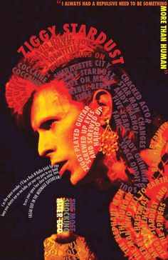 18 /France/Art Student ♦David Bowie - Sherlock - Doctor Who, and everything else awesome♠ F.G is a precious babe. David Bowie Lyrics, David Bowie Art, David Bowie Ziggy, Angela Bowie, Rock Posters, Concert Posters, Music Posters, Glam Rock, Duncan Jones
