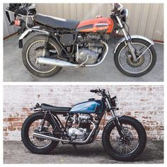 Before and After. #cb360 salty speed co