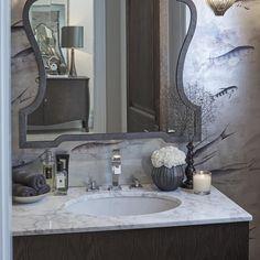 Details... #loo #bathroom #marble #wallpaper #degournay @degournay…