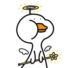 Cute Cartoon Characters, Cartoon Memes, Cartoon Art, Cartoons, Character Illustration, Simple Illustration, Original 151 Pokemon, Funny Duck, Cute Kawaii Animals