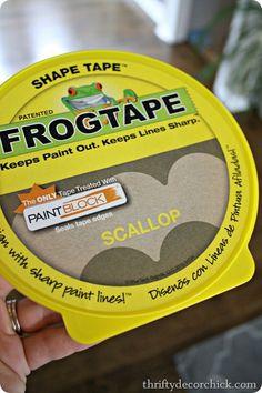 Scallop shape tape
