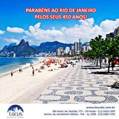 Parabéns ao Rio de Janeiro pelos seus 450 anos! E para os cariocas que fazem negócios em São Paulo, a Locus oferece ótimos planos de escriório virtual e presencial! #rio450 #riodejaneiro #eerjota #parabens #parabensrio