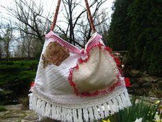 Vintage Chenille Gypsy Hobo Carpetbag by CatzStitchedFantasy, $68.00