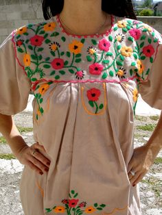 romantic vintage mexican dress