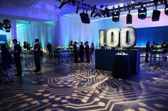 The structure in the shape of the number 100 was embedded with old computer chips and circuit boards, which were later recycled. Photo: Bill Farrell/BFAnyc.com