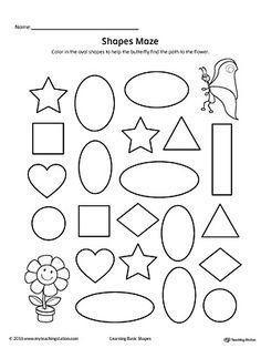 Star Shape Maze Printable Worksheet (Color) | Printable worksheets ...