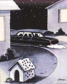 """Inspired by Monte Python's epic """"Killer Sheep"""" - """"The Far Side"""" by Gary Larson."""
