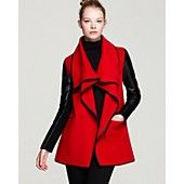 Mackage Boa Drapey Leather Sleeve Coat - This is what I call TIGHT.