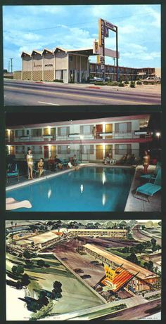 Late-1960s Hotels & Motels Post Cards - all space age and featuring pools and air conditioning. WoW! Lot of 22 different post cards, average Ex/M condition, all unused, all circa 1967-70. $40