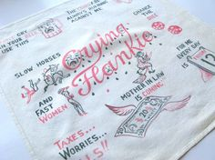 Vintage Novelty Handkerchief Crying Hankie Gag Gift For by Sfuso