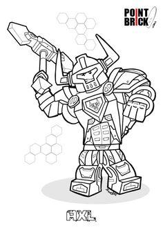 Disegni da Colorare LEGO Nexo Knights - Axl - Clicca sull'immagine per scaricarla gratuitamente